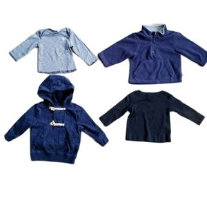 Lots of 4 Boy's Long-Sleeved Shirts and Hoodies